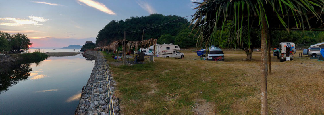 We stayed at this Campground in Melaque after we had our truck serviced..