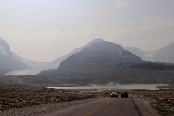 Gletscher im Smog