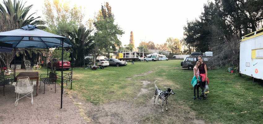 We found this safe Campsite in the middle of Teotihuacan where we stayed for three nights visiting the Pyramids and Mexico City