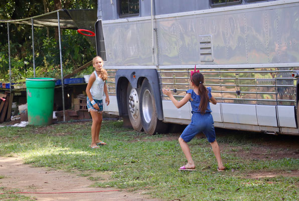 Lynn made friends with a girl on the campsite and was really glad to find someone to play with