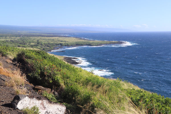 Scenic view up the east coast of Big Island