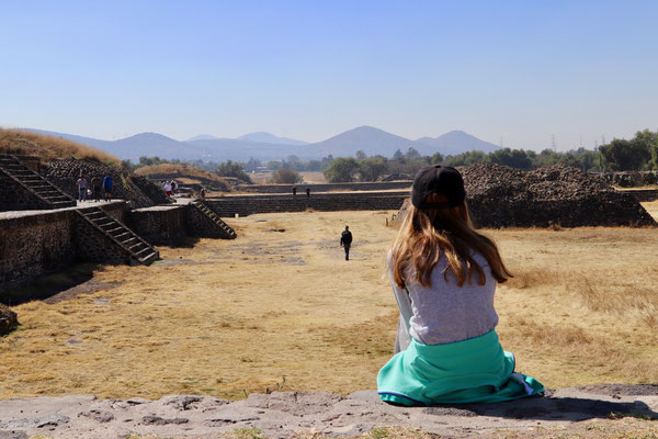 This is the Ciudadela of Teotihuacan probably where the rulers quarters