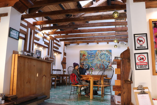 On our second day in San Cristobal we got up early and went for Breakfast in a very exquisite Café before we..