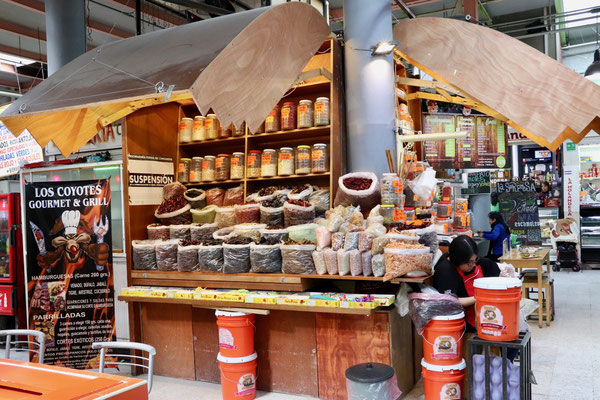 ..the indoor market offered an amazing variety of food products we weren't used to that at all..
