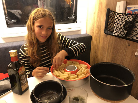 Lynn's preparing the Rigatoni Lasagne