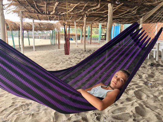 Good to rest in a hammock after a long drive