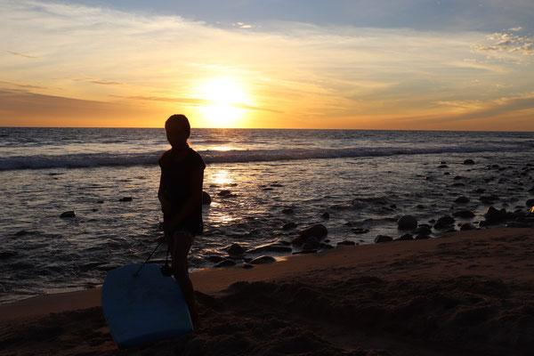One beautiful evening on Playa San Pedrito..