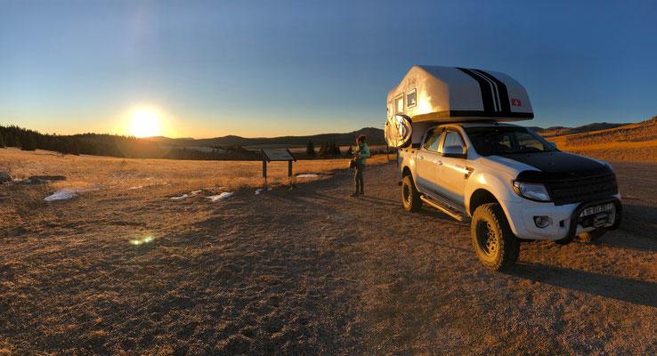 Overnight on Big Horn Mountain Pass (3000m)