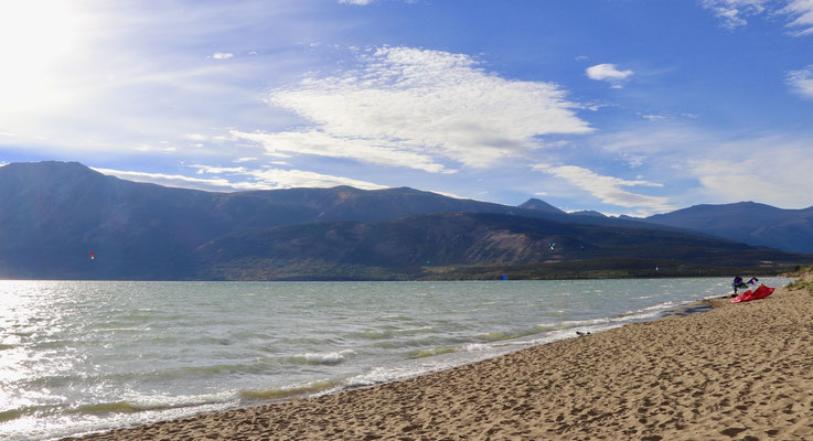 Kite Beach in Carcross