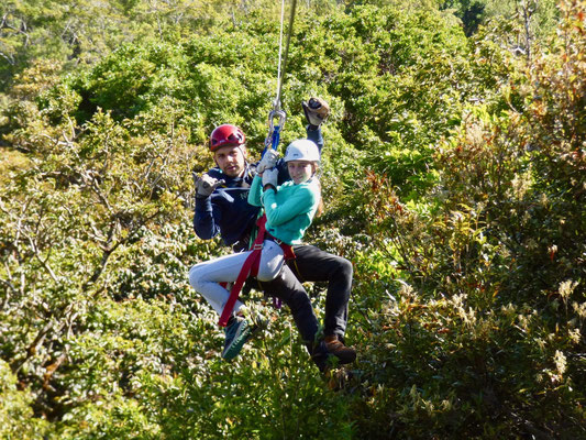 ..then off down the zip line over the jungle below to the next platform on the other side of the valley..