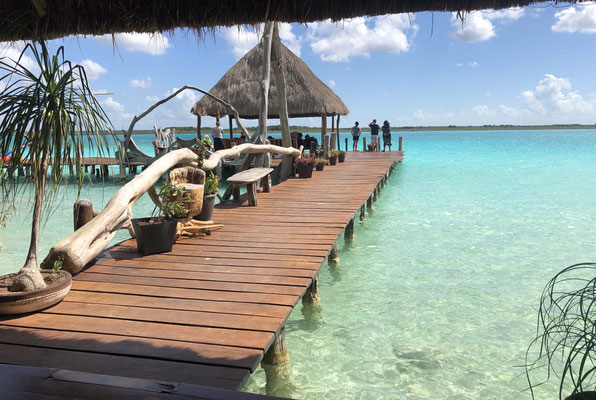 We met Lius & Carla at the last Lagoon telling us we should come and visit them in Bacalar - and so we did..