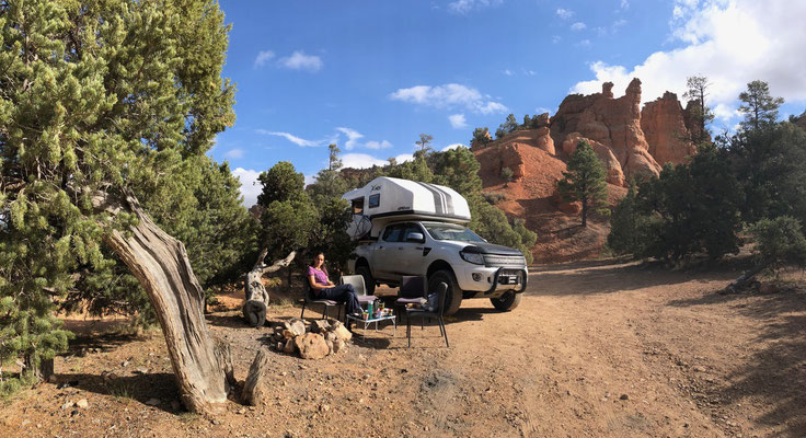 Overnight in Red Canyon