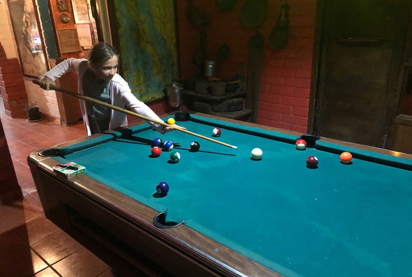 ..and then a game of pool.