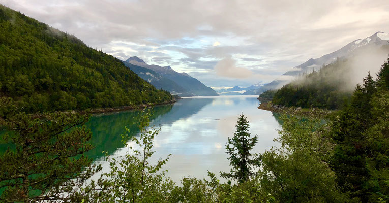Cove between Dyea and Skagway