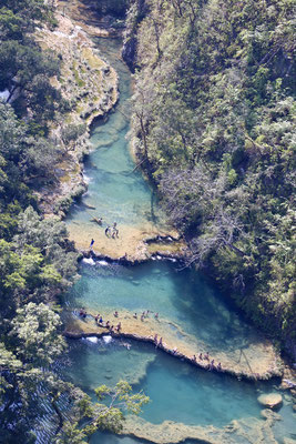 This is why we came - the river has several sections of beautiful turquoise pools