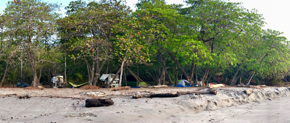 """We joined the """"beach tent squatters of Montezuma"""" the next night"""