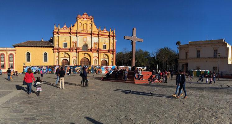 The main Plaza of San Cristobal