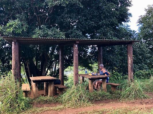 Picnic Table on Kuilau Ridge Trail