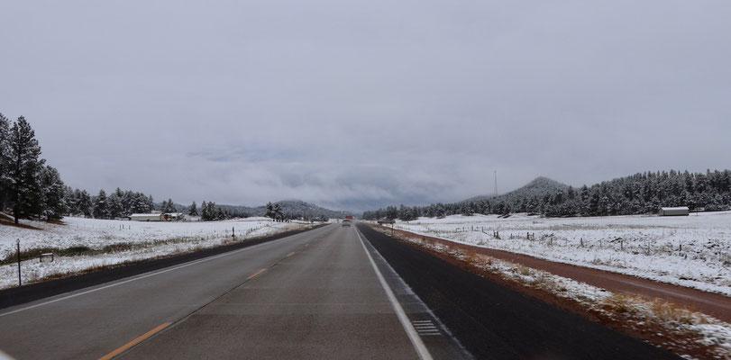 Snowy landscape in September