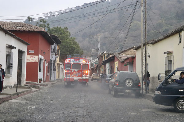 Seeing buses leaving a cloud of smoke behind them was an everyday scene - we really couldn't cope with the diesel fumes in the streets and hardly imagine this was normal just 25 years ago in Switzerland.