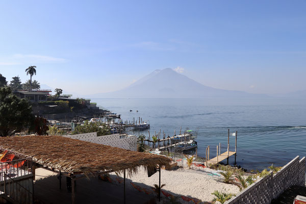 View on to the Atitlan Volcano