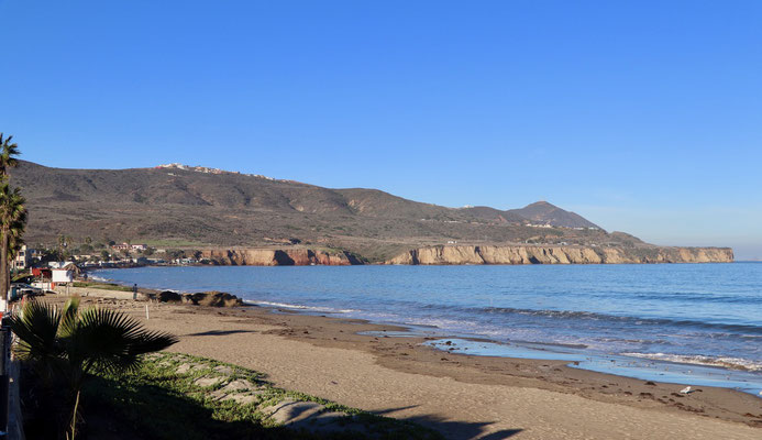 This Beach in Ensenada had hot springs below the sand, so if you dig deep enough into the sand, you'll experience the amazing sensation of hot wet sand...just great for dipping your feet in