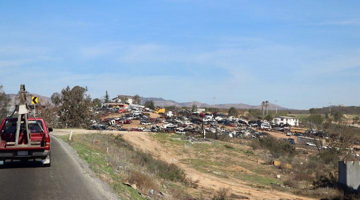 Roadside car dump