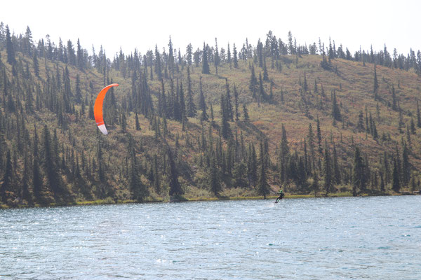 Kite Surfen im Summit Lake