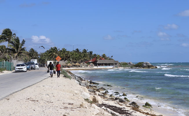 Next stop Tulum a very touristic town on the caribbean coast