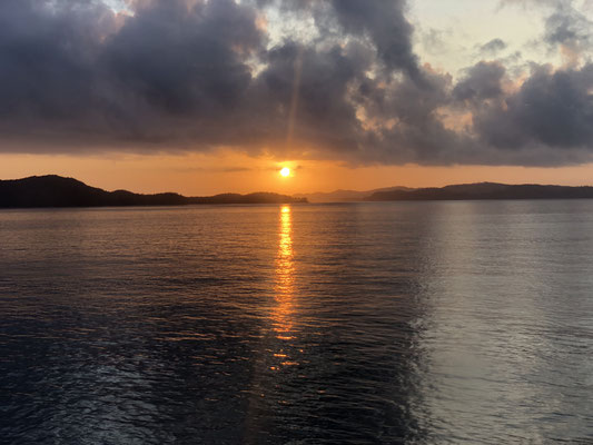 Sunset of the ferry