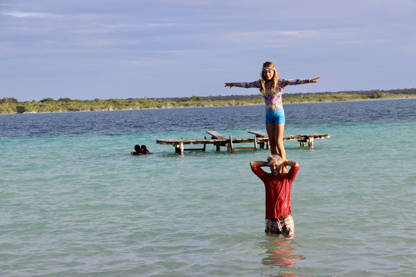 ..and went for a swim in the Bacalar Lagoon