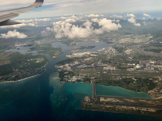 Pearl Harbour on the Island of O'ahu Hawai'i