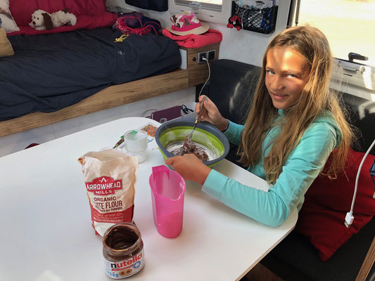 Lynn preparing Xmas cookies..