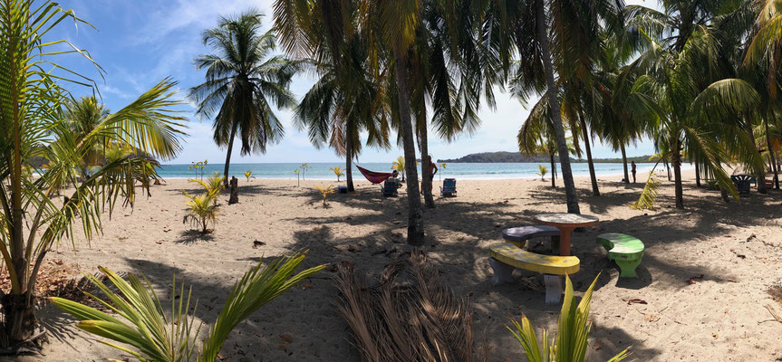We past beautiful beaches with lovely picnic areas under palm trees - this is the big difference between Costa Rica and the rest of Central America