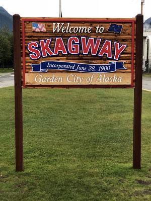 Skagway Ortsschild