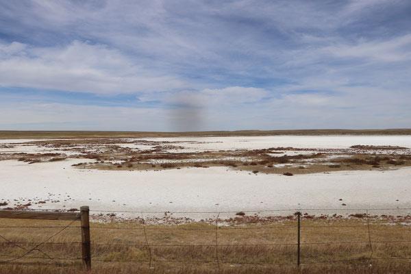 Salt Lake next to Highway