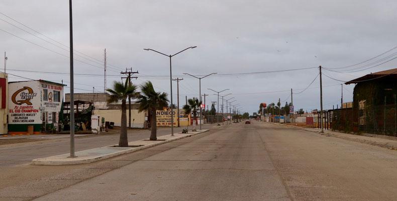 Main Street of  Guerrero Negro