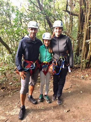 ...all set to zip line through the rain forest of Monte Verde..