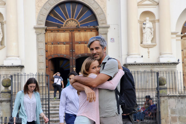 ..a pose in front of the Catedral -Smile!