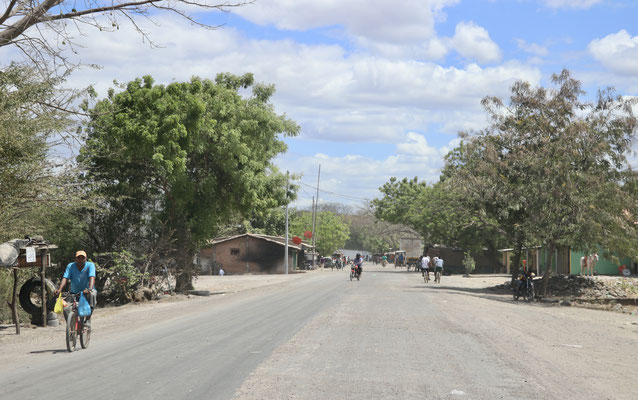 Entering a village in Honduras on the way to the Nicaragua Boarder