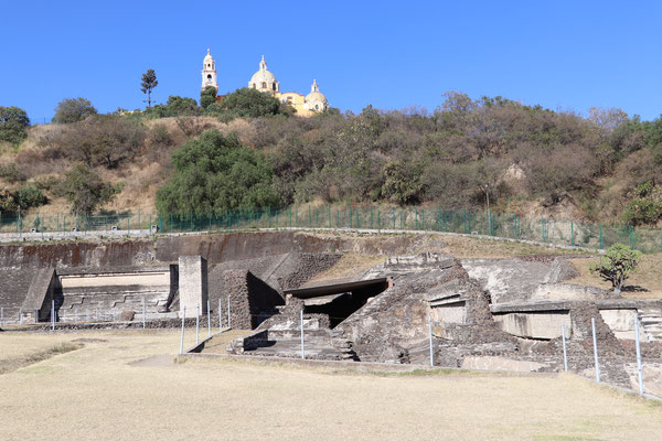 These are the ruins around the pyramid