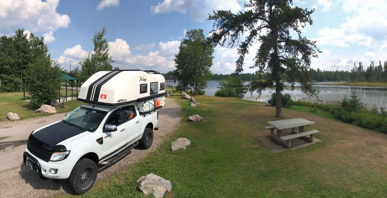 Mittags Stop zwischen Superior & Blue Lake
