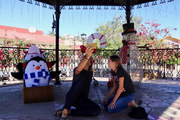 Christmas Family Skype in San Rosalito