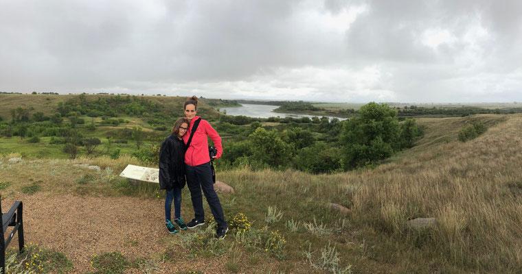 Ausflug bei Regenwetter mit Claude zu den Ausgrabungsstätten mit Spaziergang durch ehemaliges Siedlungsgebiet von Indianern