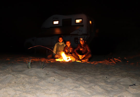 ..then we walked back to our camper and made a fire as we waited under the stars for the New Year