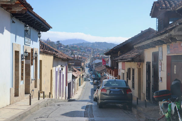 ..we found a small Hostel called Posada in town and parked the camper just outside in the street, which worked quite well, except for the noise at night which didn't give us a good night's sleep