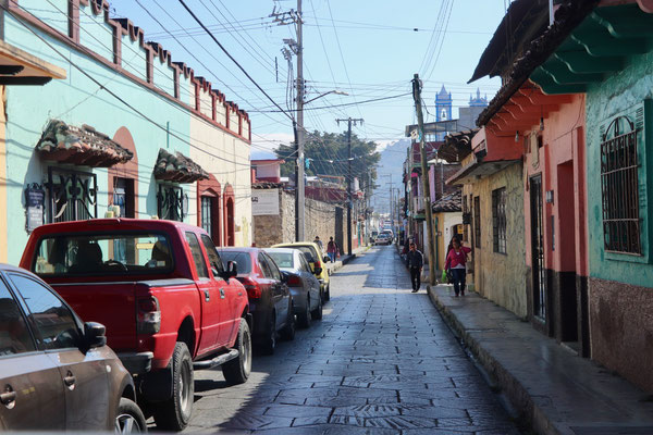 """At last we arrive after one day of driving in the town of San Cristobal the streets here are all one way and really narrow we were so glad to have a """"small"""" camper.."""