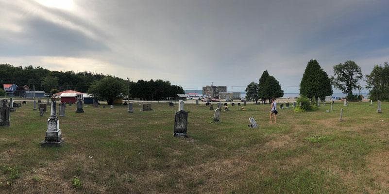 ein typisch kanadischer Friedhof, Manitoulin Island