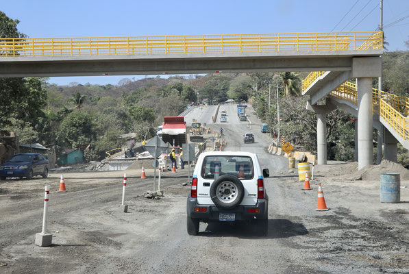 The El Salvadors are very hard workers and as you can see here they are building a highway done to the Pacific.