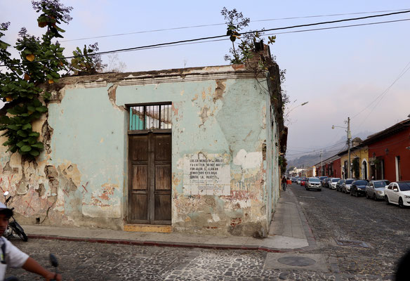 Some of the buildings are left over to decay after the last earthquake..